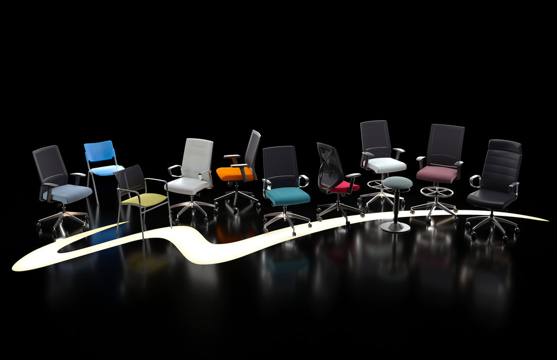 Comfortable ergonomic chair from Wyatt Seating